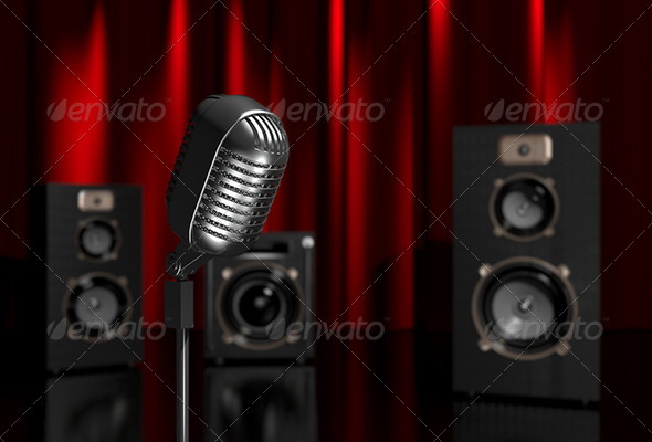 GraphicRiver Microphone and Speakers 6171440