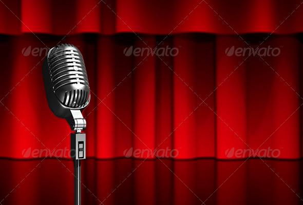 GraphicRiver Microphone on Scene 6171504