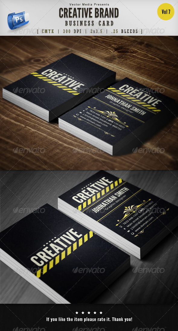 GraphicRiver Creative Brand Business Card [Vol.7] 6171603