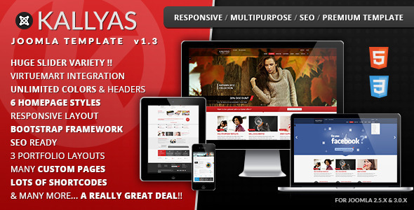 KALLYAS - Best Responsive Multipurpose Joomla Template