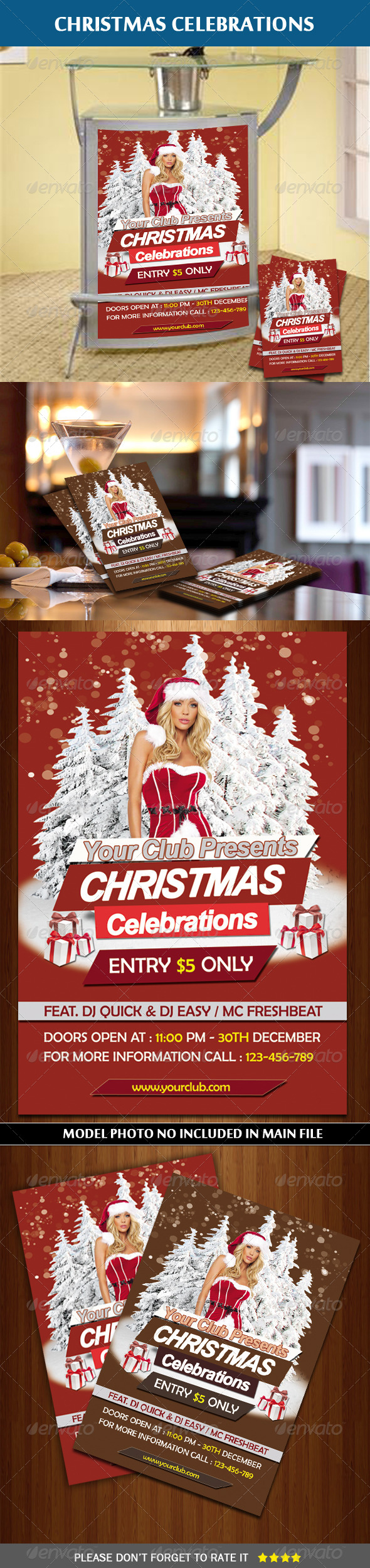 GraphicRiver Christmas Party Flyer 6171707