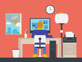 Illustration of a manager working in the office - PhotoDune Item for Sale