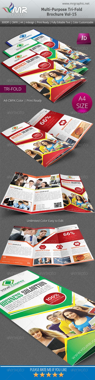 GraphicRiver Multipurpose Business Tri-Fold Brochure Vol-15 6171927