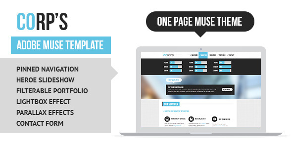 ThemeForest Corporate Adobe Muse Template 6084254