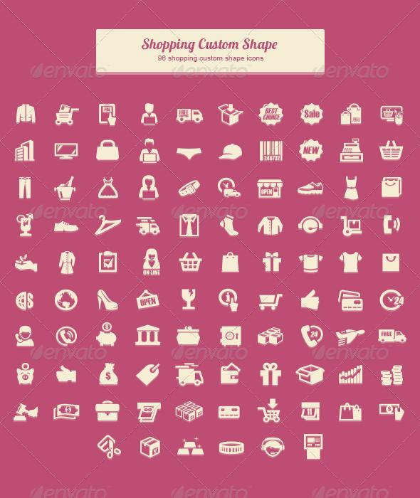 GraphicRiver Shopping Custom Shape 6172352