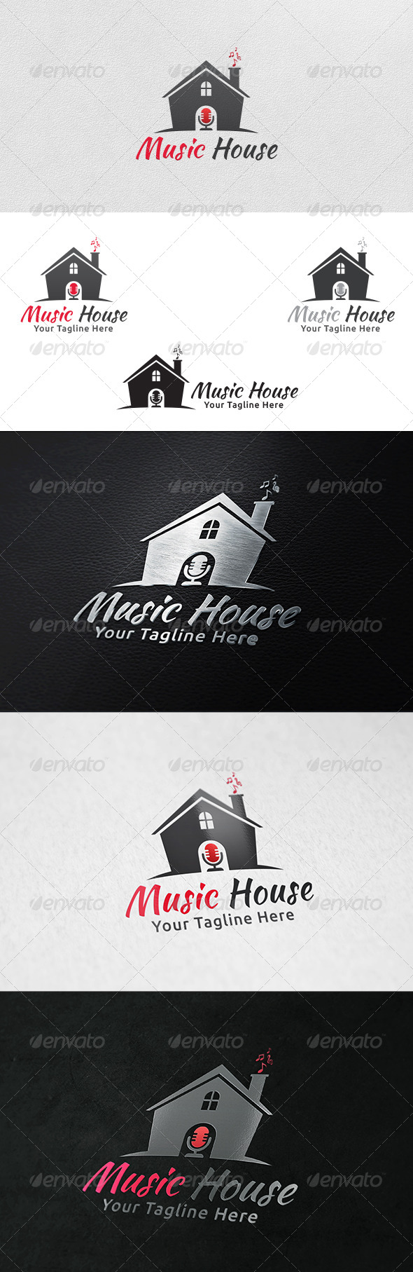 GraphicRiver Music House Logo Template 6172520