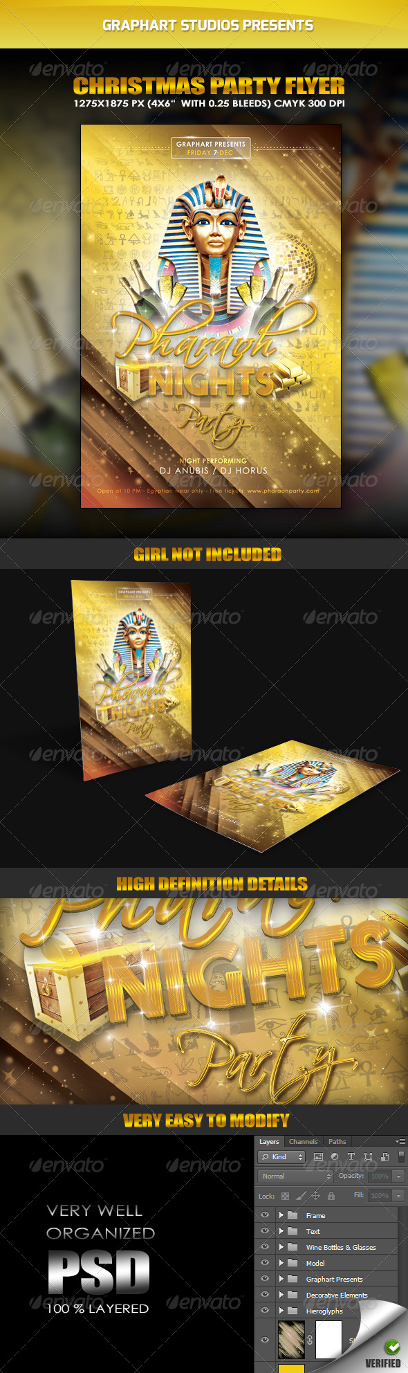 GraphicRiver Pharaoh Nights Party Flyer 6172545
