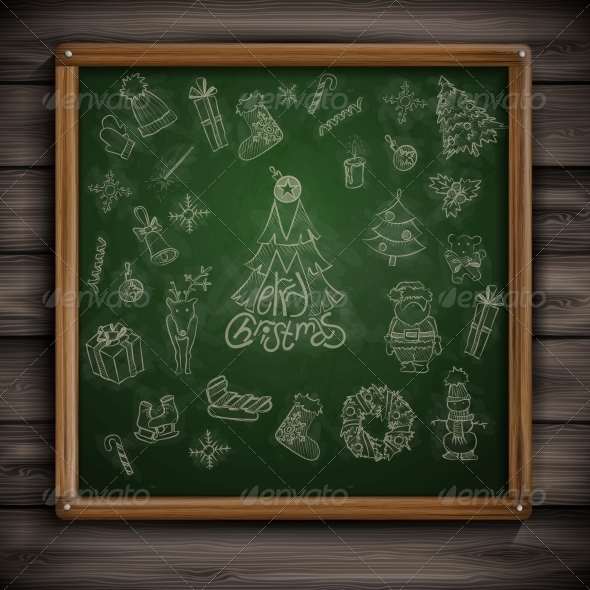GraphicRiver Hand Drawn Christmas Set 6172604