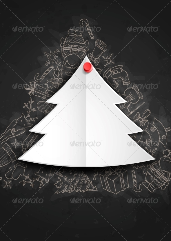 GraphicRiver Merry Christmas Stylish Tree 6172614