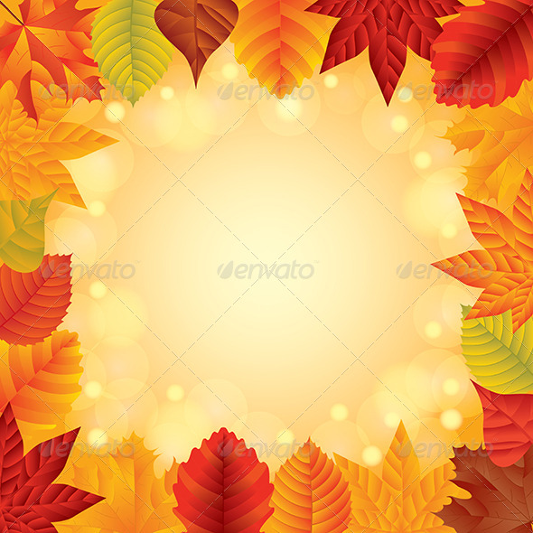 GraphicRiver Autumn Leaves Vector Frame 6172652