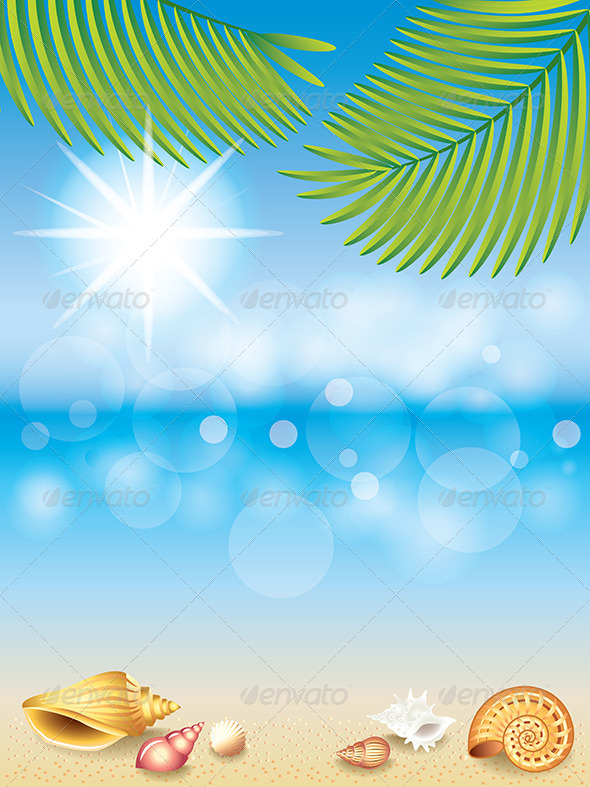 GraphicRiver Summer Holidays Vector Background 6172681