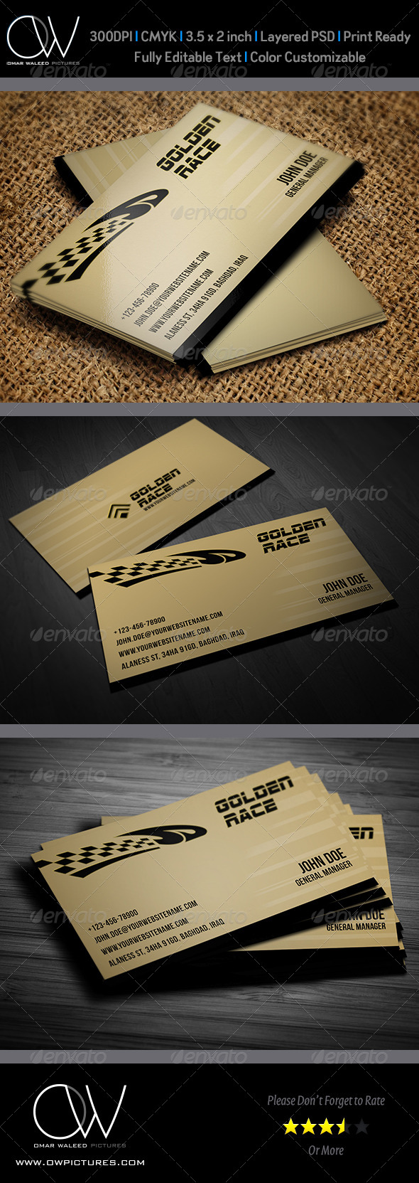 GraphicRiver Sport Race Business Card Template 6172789