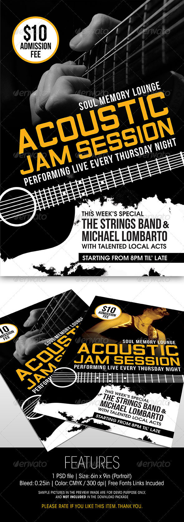 GraphicRiver Acoustic Jam Session Flyer 6172799