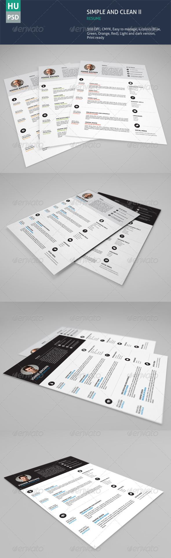 GraphicRiver Simple & Clean Resume Vol.02 6173117