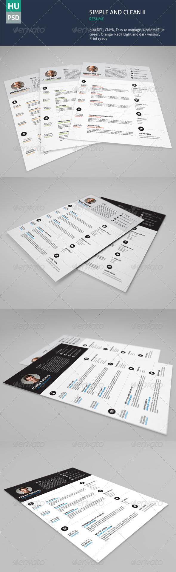 Simple & Clean Resume Vol.02