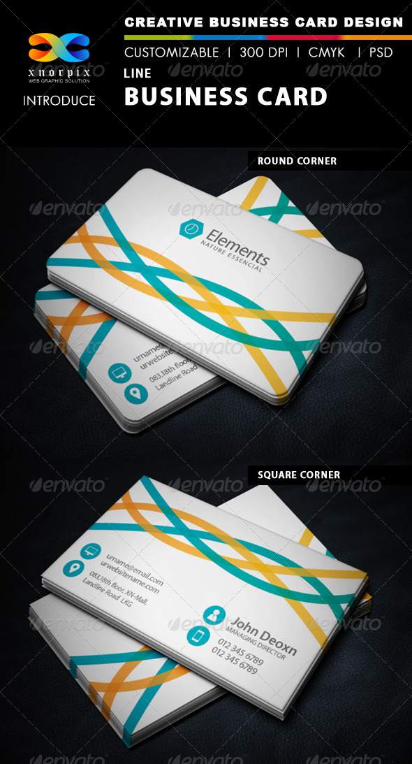 GraphicRiver Line Business Card 6173506