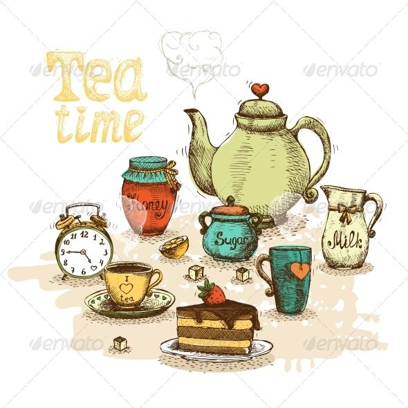 GraphicRiver Tea Time Still Life 6174227