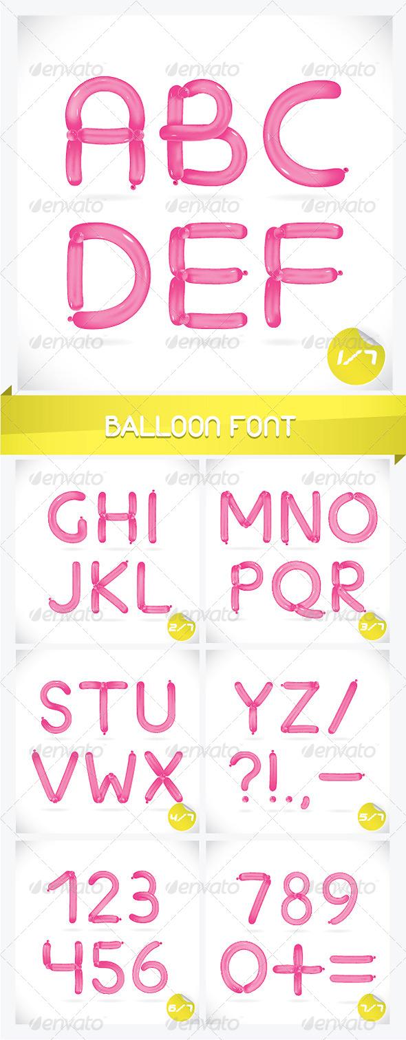 GraphicRiver Unique Glossy Balloon Font 6174548