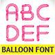 Unique Glossy Balloon Font