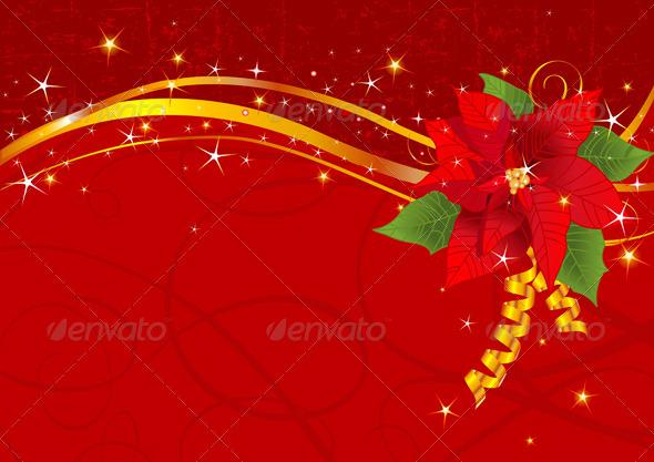 Christmas poinsettia background