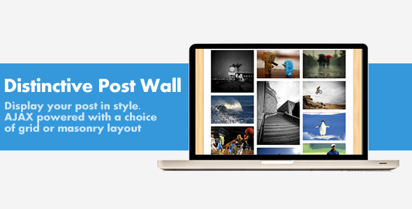 Display Your Post using our ajax powered post wall. choose from masonry or grid format and take complete control with the easy to use shortcode generator and b