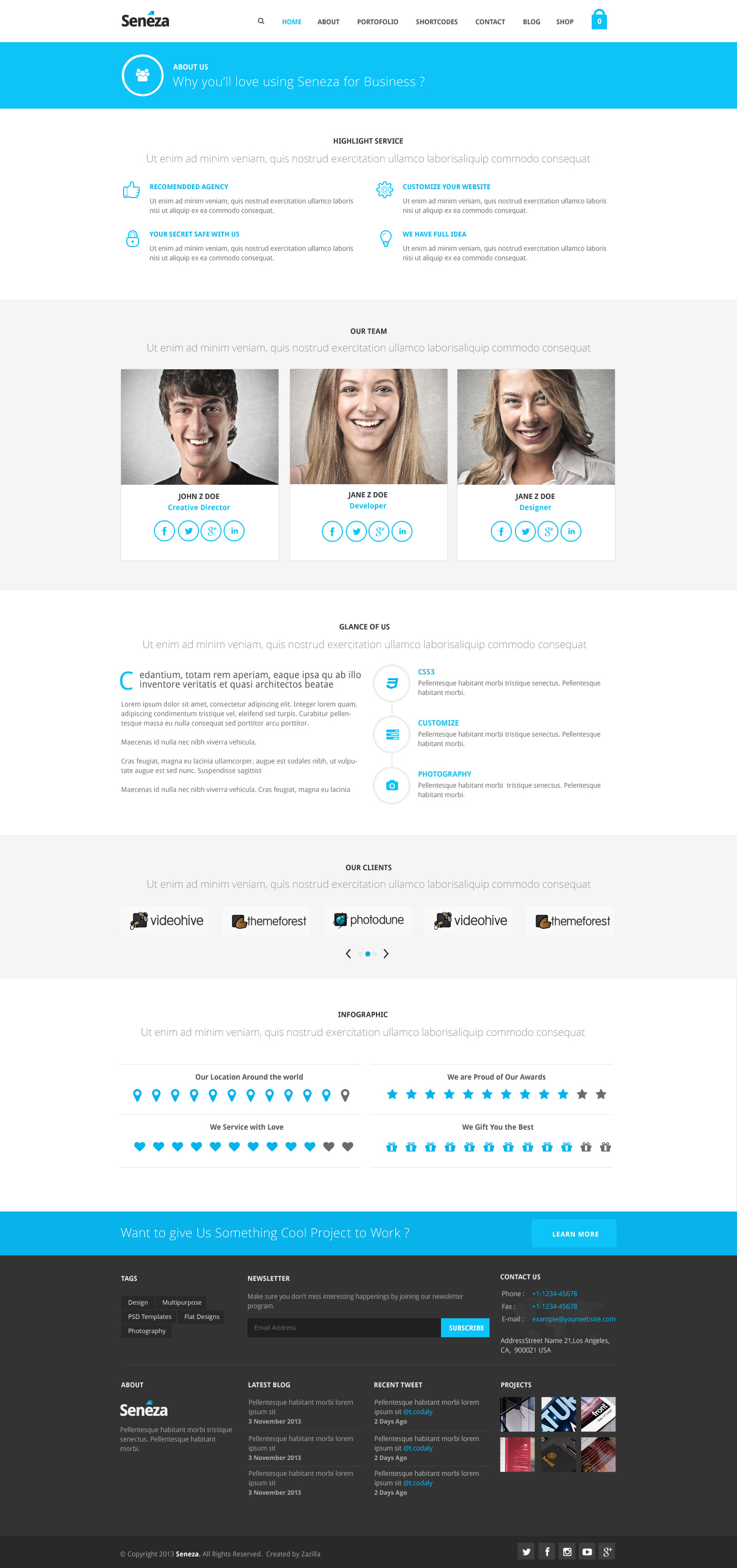 Seneza - Ultimate Clean Multipurpose PSD Templates