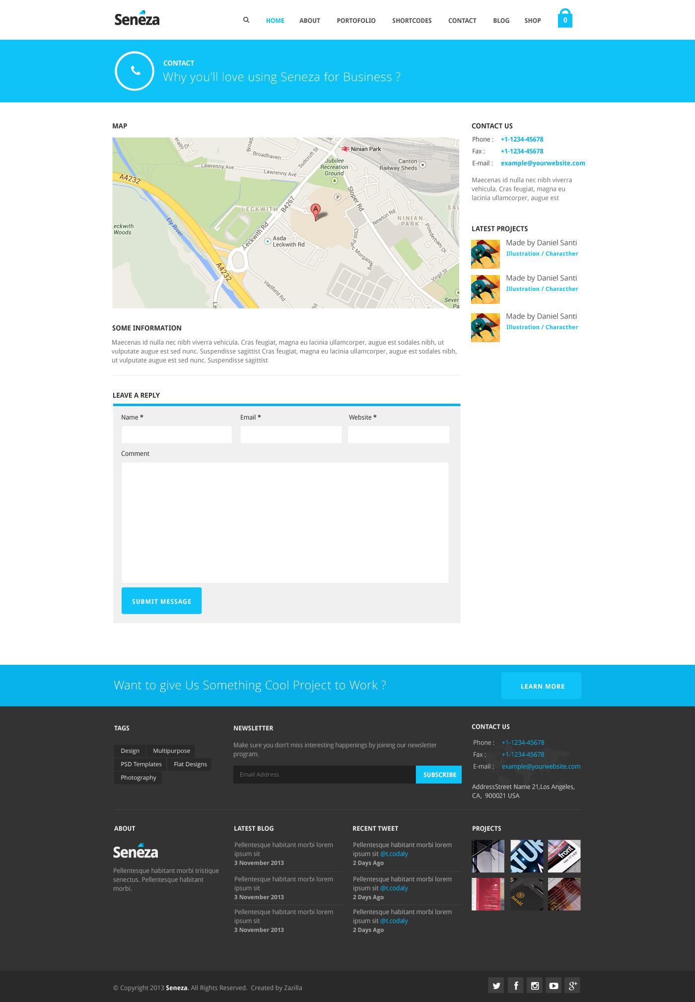Seneza - Ultimate Clean Multipurpose PSD Templates