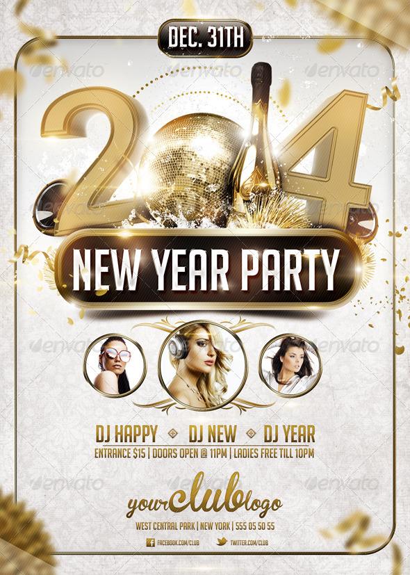 Flyer de Año Nuevo