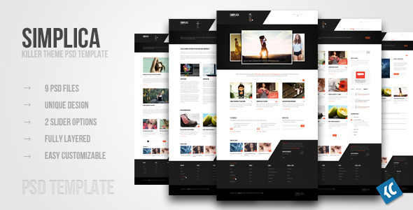 SIMPLICA | Another killer theme PSD template