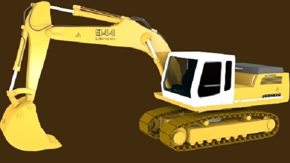 Crawler Excavator - 3DOcean Item for Sale