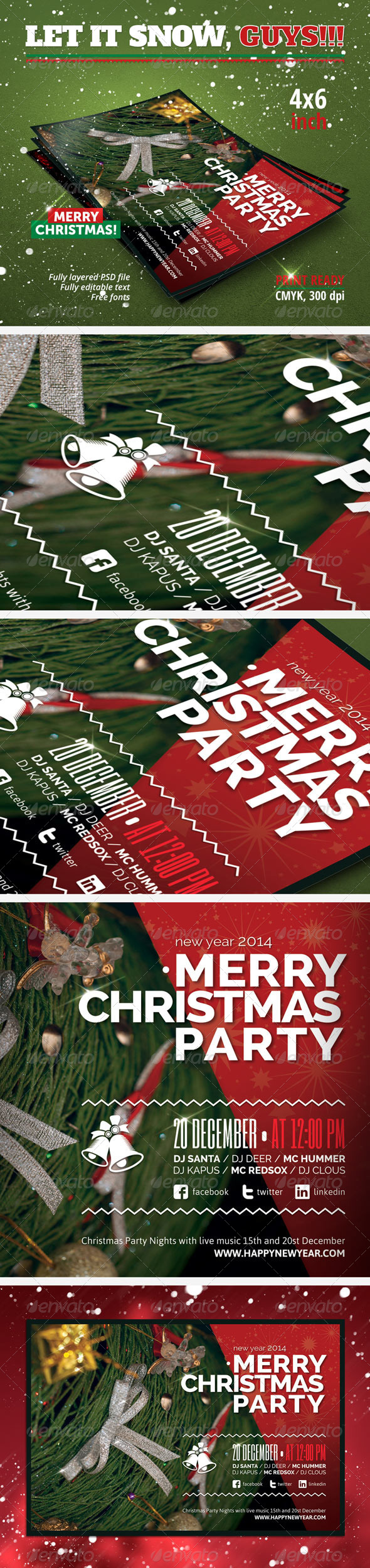 GraphicRiver Christmas New Year Party Flyer 6103424