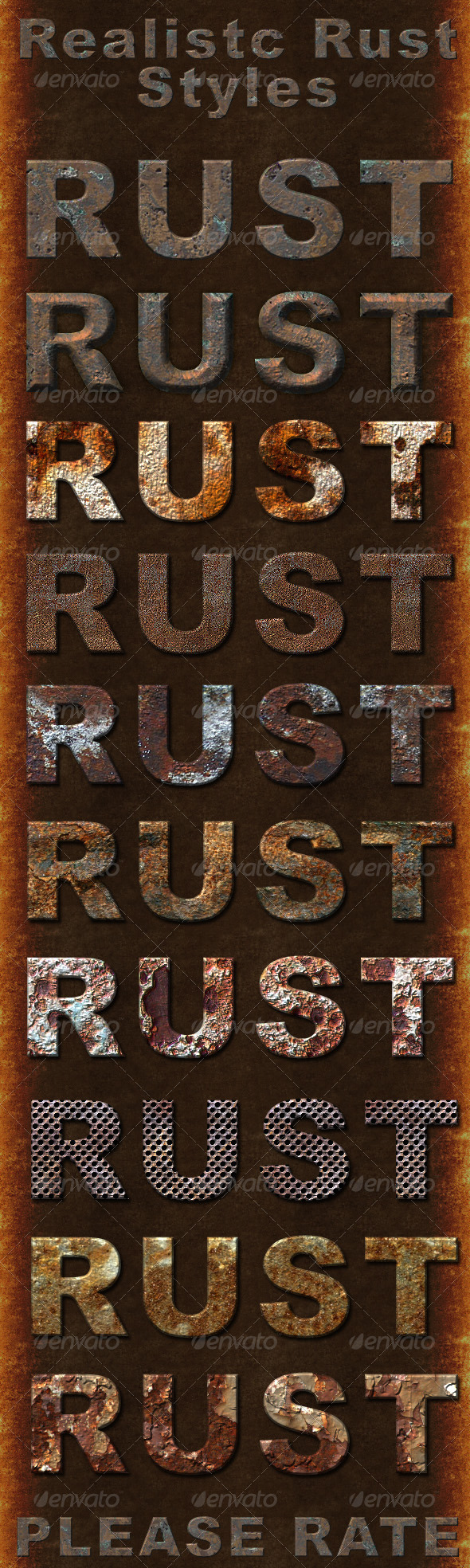 Realistic Rust Styles - Photoshop Add-ons