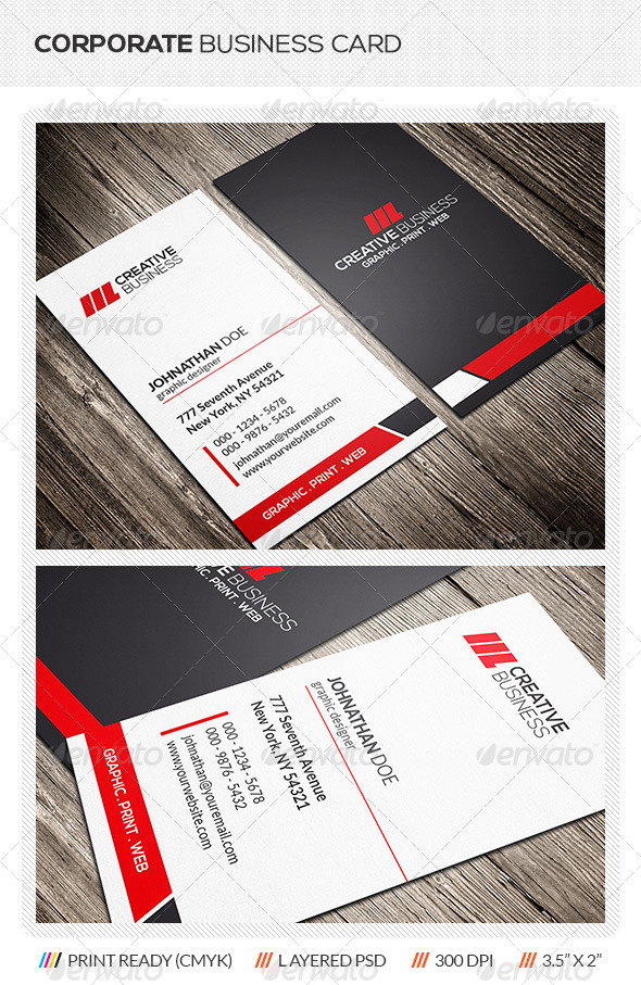 GraphicRiver Clean Corporate Business Card 6176479