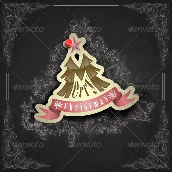 GraphicRiver Christmas Sticker 6176547