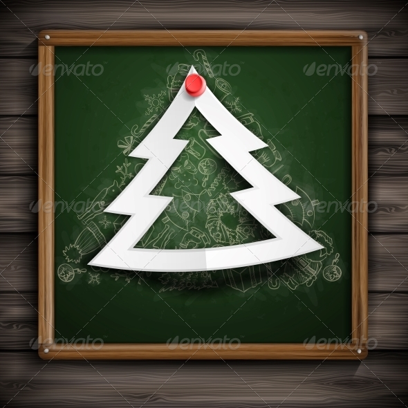 GraphicRiver Merry Christmas Stylish Tree 6176549