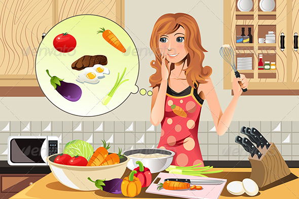 GraphicRiver Cooking Woman 6176631