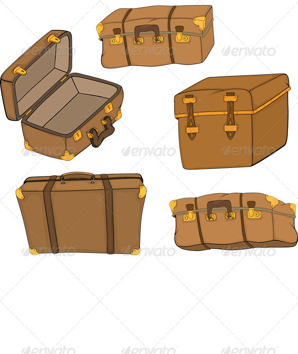 GraphicRiver The Complete Set of Old Suitcases 6176743