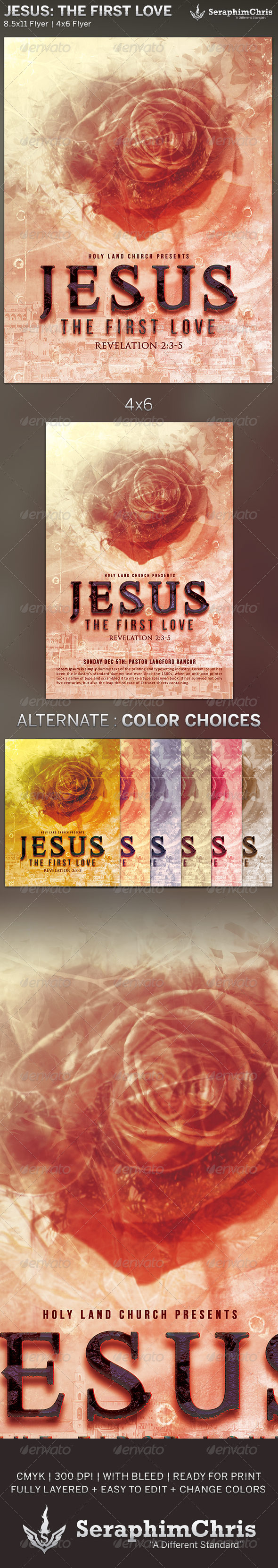 GraphicRiver Jesus The First Love Church Flyer Template 6176879
