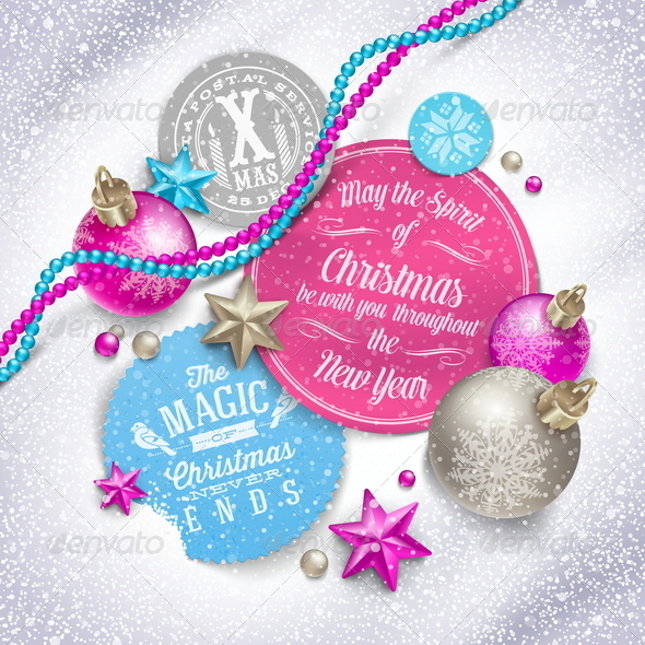 GraphicRiver Cardboard Labels with Christmas Greetings 6177407