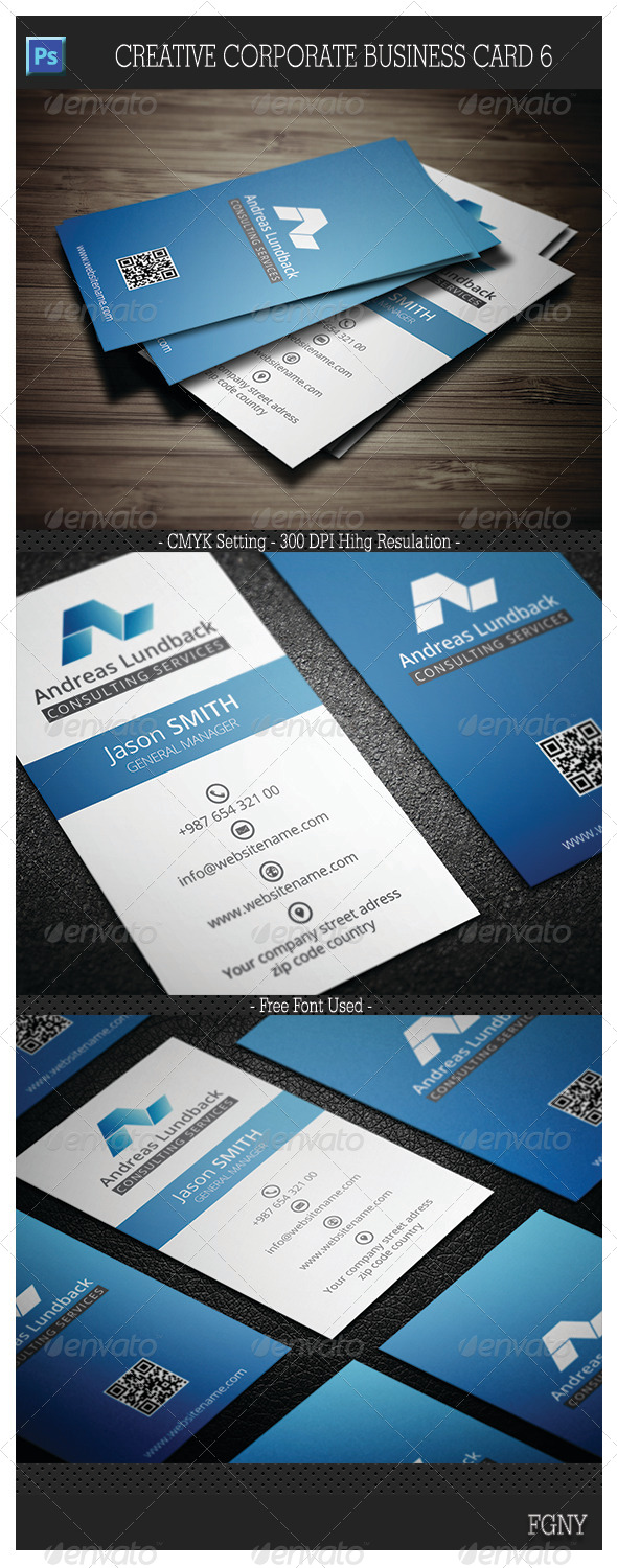 GraphicRiver Creative Corporate Business Card 6 6013808