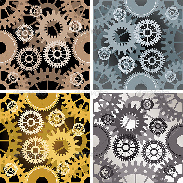 GraphicRiver Seamless Gear Pattern 6177521