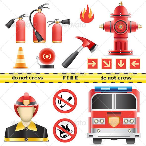 GraphicRiver Fire Set 6177528