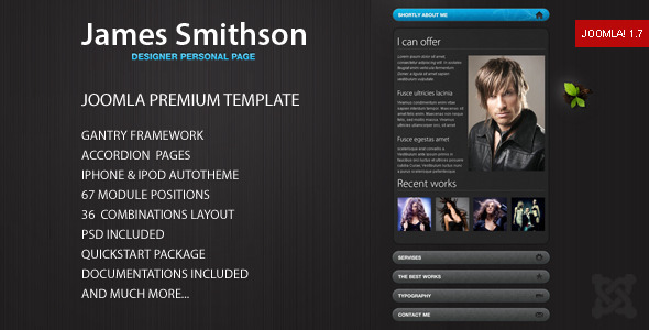 James - Premium Joomla Template - Portfolio Creative