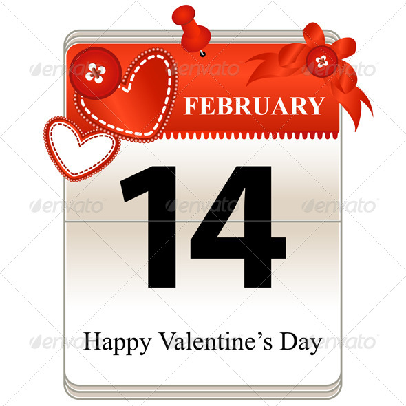 GraphicRiver Valentines Day Calendar 6177875