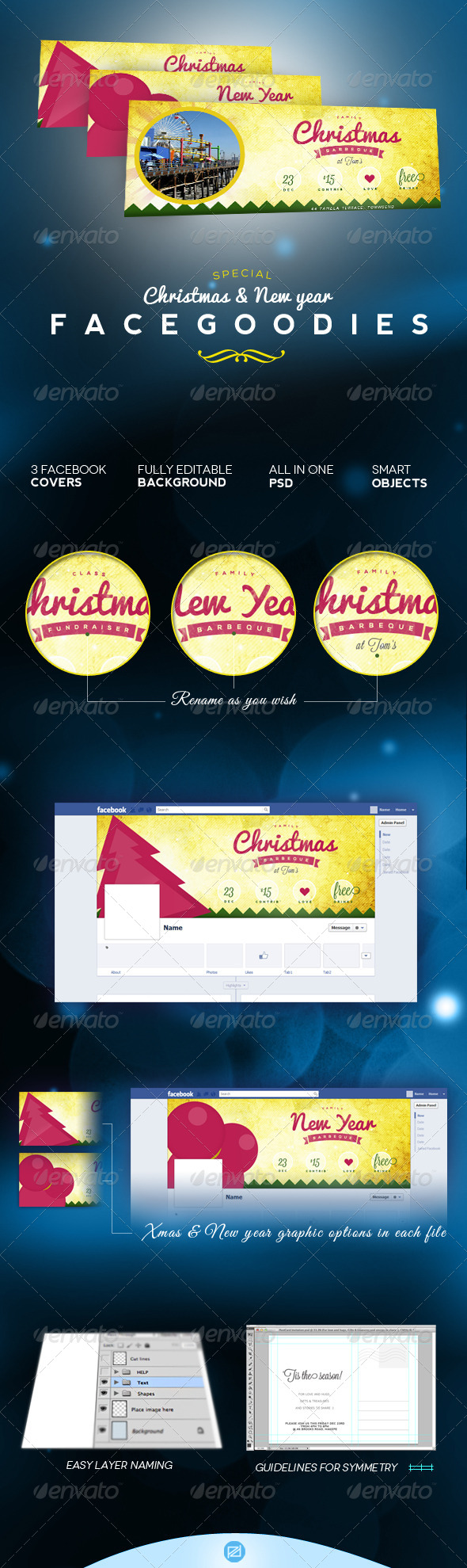 GraphicRiver Christmas & New Year s Facebook Event Cover 6177960