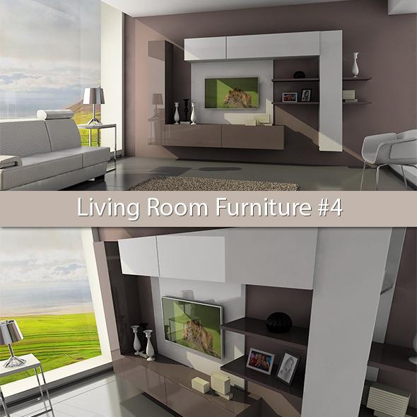 Living Room Furniture #4 - 3DOcean Item for Sale
