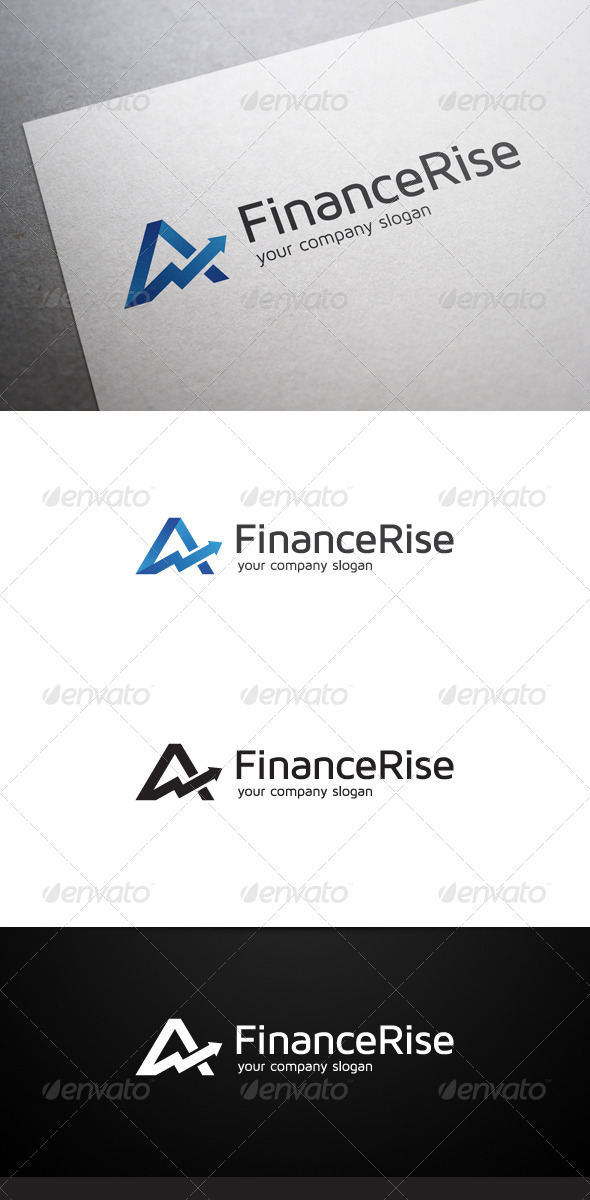 GraphicRiver Finance Rise Logo 6178377