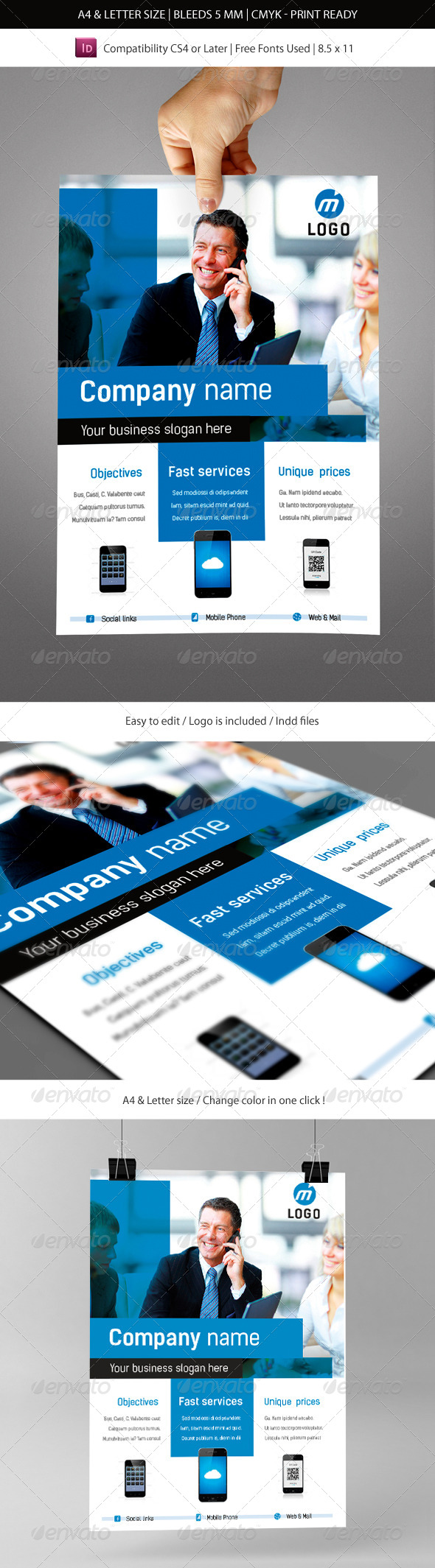 GraphicRiver Corporate & Business Commerce Flyer Template 6178897