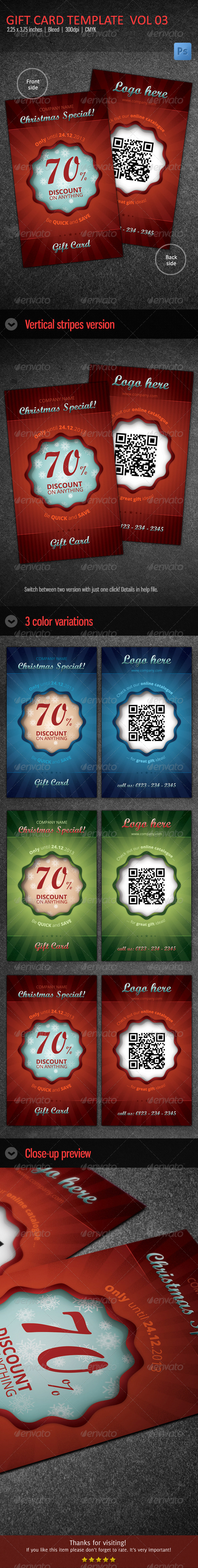 Christmas Gift Card / Voucher vol 03