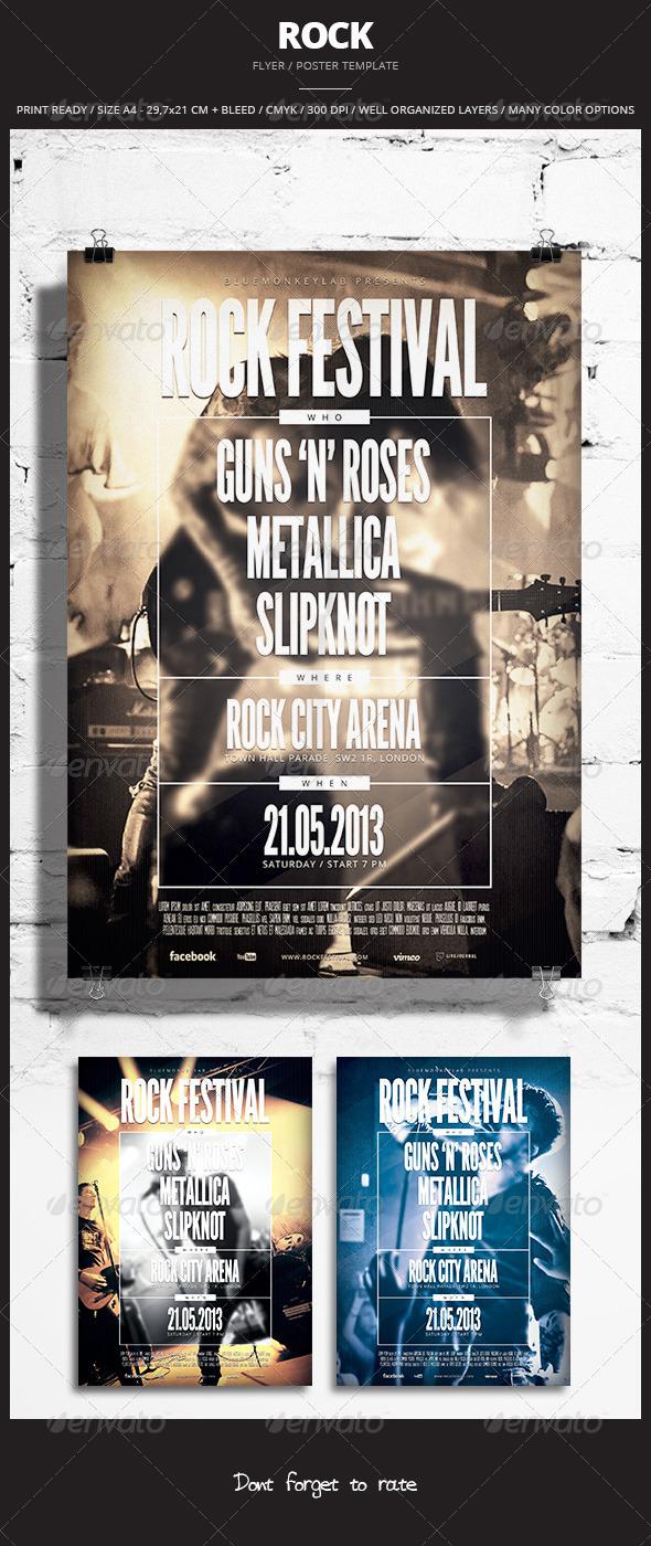 Rock Flyer Poster 5